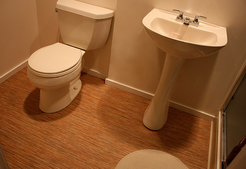 Bamboo for bathroom floor wood floors for Bamboo bathroom flooring ideas